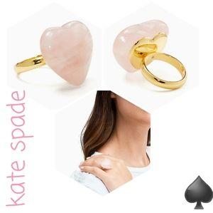 💍💗 NWT‼️ STUNNING Kate Spade ♠️ Rose-Quartz Ring